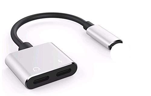Adaptador de Cargador de Audio para Auriculares, Divisor de Conector de Audio, convertidor de Cargador, 2 en 1, para iPhone 7, 8 Plus