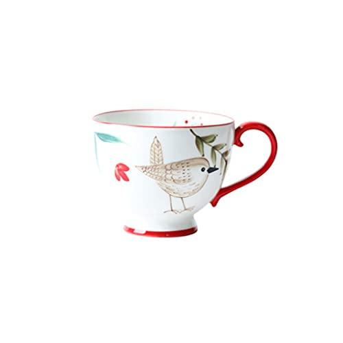 Coffee Cup Taza Taza de Agua de cerámica de Gran Capacidad Taza de Desayuno doméstico Femenino Taza de Leche de Avena Taza de café