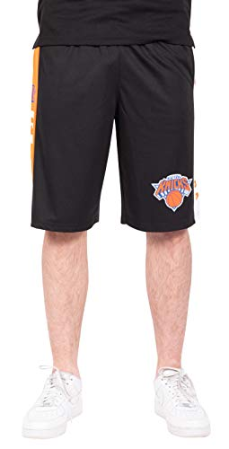 Ultra Game NBA New York Knicks Mens Mesh Basketball Shorts, Black, XX-Large