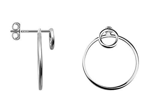 SOFIA MILANI - Damen Ohrringe 925 Silber - Ohrstecker als Kreis Rund - 20629