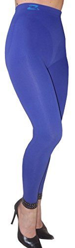 CzSalus Anti Cellulite Slimming Leggings (Fuseaux) + Silver - (Indaco/Indigo, XS)