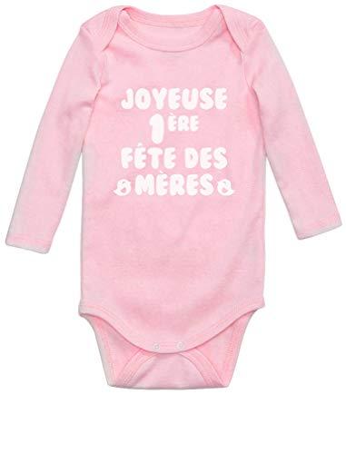 Green Turtle T-Shirts Cadeau Maman Joyeuse 1er Fête des Mères Body Bébé Manche Longue 6M Rose