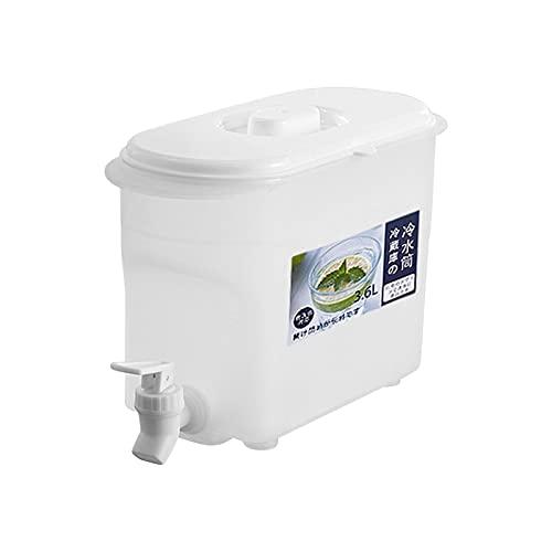 Linsition Dispensador de agua para frigorífico de 3,6 l con grifo – Dispensador de bebidas de plástico con picos para frigorífico, grifo, dispensador de bebidas, 25,5 x 17 x 10,5 cm