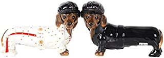 Pacific Giftware Adorable Elvis The King of Rock & Roll Doxies Salt and Pepper Shaker Set Cute Dachshund Wiener Dog Tabletop Decoration SP Set