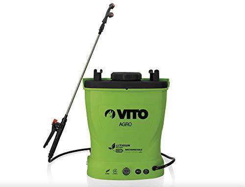 Pulvérisateur à batterie Lithium VITO 12V/6AH 16L 6 bars Poids léger Chargeur inclus Végetaux jardin toitures
