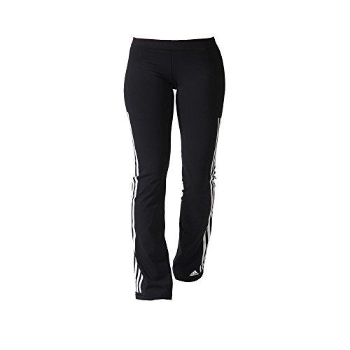 adidas Damen Sporthose Lang 3-Streifen Pants Straight Jogginghose, Black/White, XS