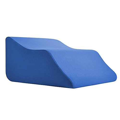 Lounge Doctor Elevating Leg Rest Pillow Wedge Foam w/Blue Cover Medium-Foot pillow-Leg Support-leg swelling-vein issues-lymphedema-restless legs-Pregnancy