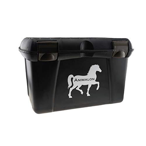 Animalon Putzbox für Pferde | Pferde Putzkoffer in braun | Große Pferde-Putzkiste für Turniere | Pferdeputzkasten mit herausnehmbarem Fach