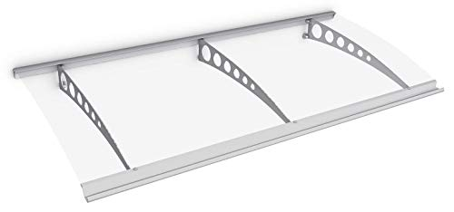Schulte deurluifel Style-Plus, 200 x 90 cm, cirkel, helder gebogen Polycarbonaat, RVS V2A, V1120-20-21