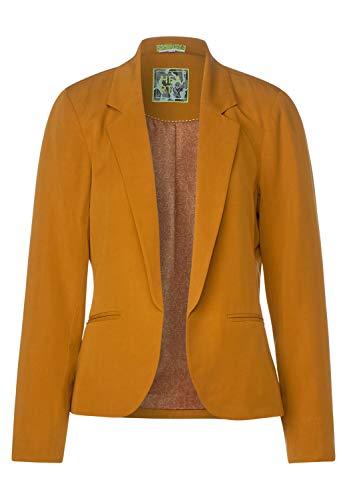 Street One Damen Offener Blazer mit Turn-Up Foxy orange 44