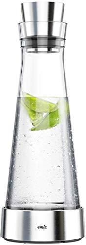 Emsa Flow Slim Jarra refrigeradora, Cristal, Plateado, 39.3 x 28.8 x 15.1 cm