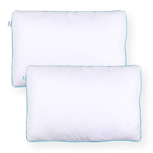 Sleeb Füllkissen 45x70 cm 2 Stück Reißverschluss Waschbar Weiß Kissen-Füllung Kissen-Inlett Innen-Kissen