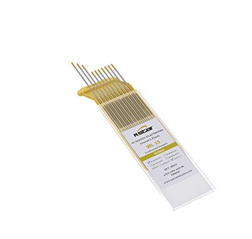 WL15 TIG Soldadura Electrodos de Tungsteno Contienen 1.5% Lantanio (Oro-plus)electrodos de tungsteno Ø1,6X175mm 10 electrodos - No radioactivo