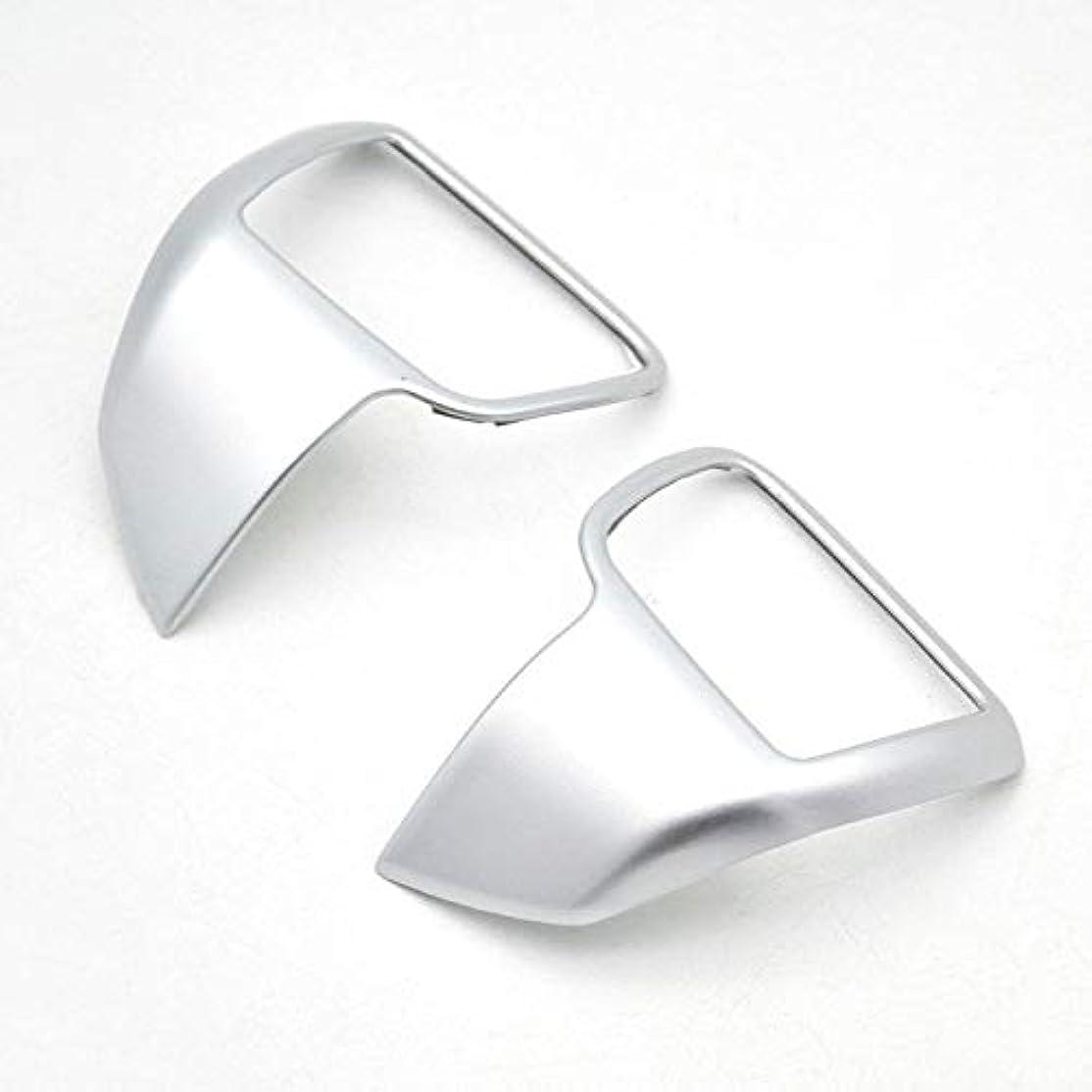 最終的にカエルコーラスJicorzo - 2pcs Chrome ABS Steering Wheel Panel Cover Trim Garnish Bezel For Toyota Kluger 2014-2018 Car Interior Accessories Styling