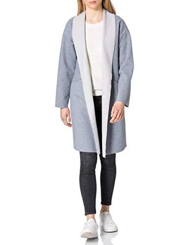 ONLY Damen ONLNEVA-CARA L/S Coatigan CC PNT Jacke, Vintage Indigo/Detail:Melange, M