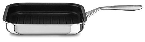 KitchenAid Grillpfanne antihaftbeschichtet, Edelstahl, Silber, 26 cm