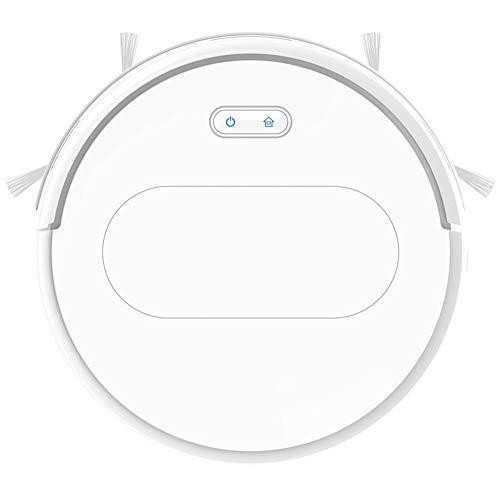 LG Snow Robot Aspiradora, Control Remoto Recargable Automático Hoover, Alta Potencia Más Adecuada para Azulejos Y Alfombras (Color : White)
