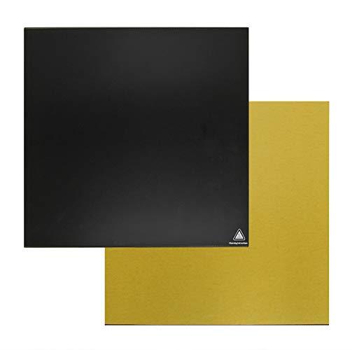 Wisamic Gehärtetes Glas Oberfläche Glasplatte Heizbett 235 x 235 x 4mm für Creality 3D Drucker Ender 3, Ender 3 Pro, Ender 5, Ender-3X, CR-20, CR-20 Pro
