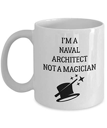 Taza de arquitecto naval - No soy un mago - Taza de té y café de cerámica novedosa y divertida Regalos geniales para hombres o mujeres con caja de regalo