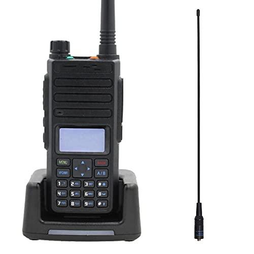 Walkie Talkie Walkie-Talkie Radio digital de doble frecuencia, doble ranura de tiempo, 136 x 62 x 36 mm Addantenna