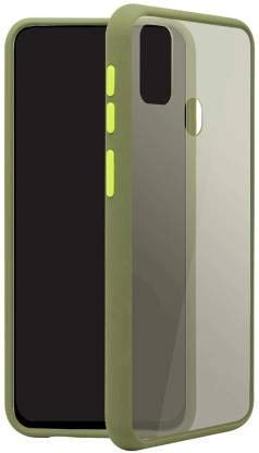 Casemet® Translucent Matte Frosted Smoke Case with TPU Coloured Bumper for Samsung A21s