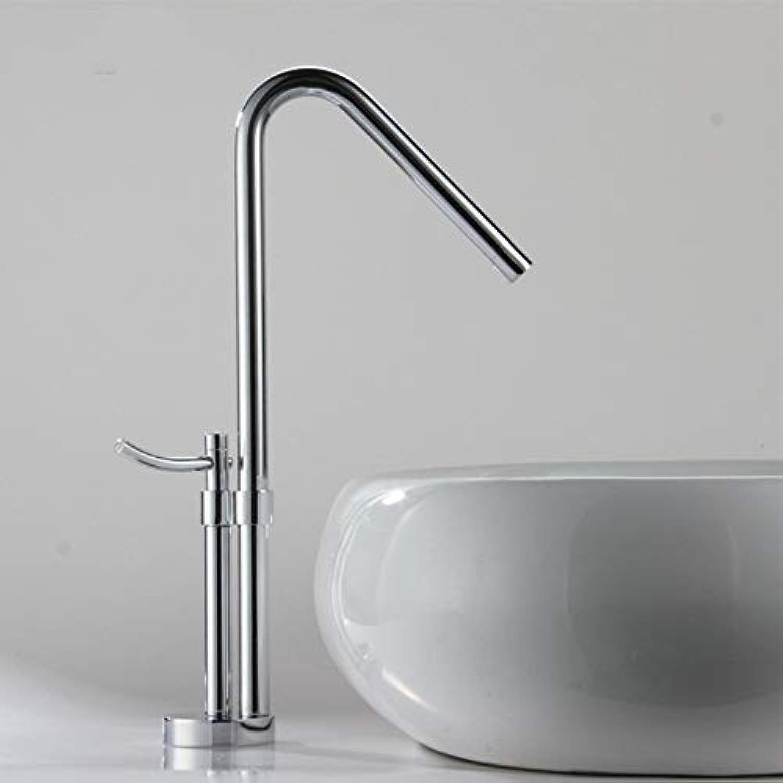Ayhuir Neueste Zeitgenssische Design Massiv Messing Badezimmer Wasserhahn Hoch Poliert Waschbecken Wasserhahn Hoch Wasserfall Becken Seite Wasserhahn