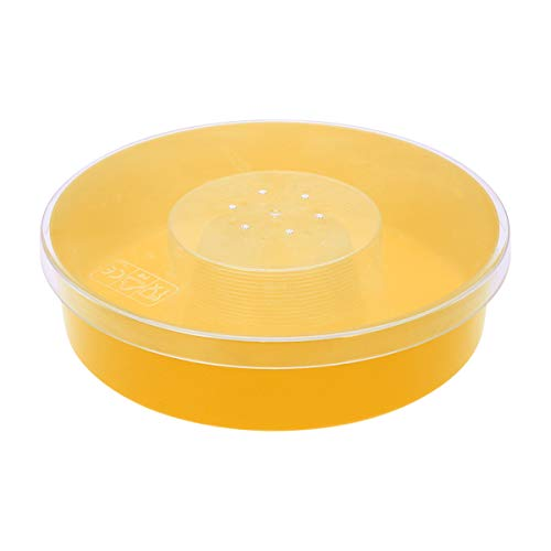 Yardwe Bee Feeder Round Hive Top Kunststoff Rapid Bee Wasser-Netzteil für Forniture Apicoltura Bienenenzucht Regine (gelb)