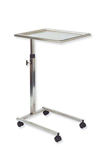 Holtex doppio OTA0120Mayo tavolo in acciaio INOX con 4ruote