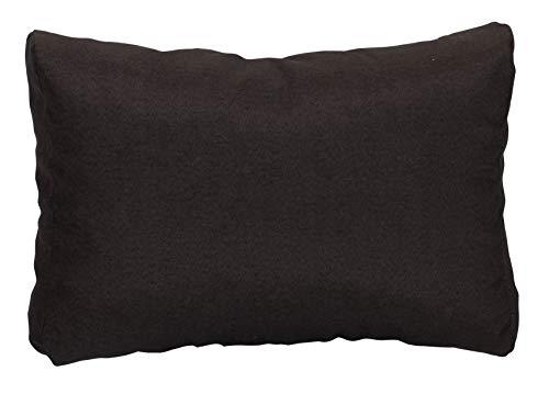 Beo Rückenkissen Sofa 60x40 cm | Made in EU Lounge Kissen wasserabweisend Schwarz | Couchkissen groß | Polster Outdoor für Rattan Lounge | Palettenkissen Rückenkissen passgenau für Europaletten