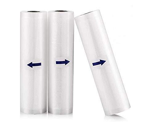 Vakuumrollen Folienrollen,3 Rollen Vakuumbeutel für Vakuumierer Folienschweißgerät,20cm x 600cm und 25cm x600cm und 28cm x 600cm mit Lebensmittel BPA-frei und Kochfest und Sous Vide Gefrierbeutel