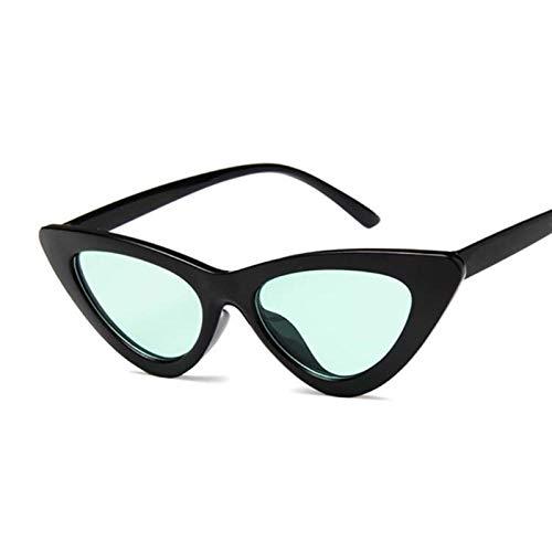 PPLAX Gafas de Sol de Ojo de Gato Retro Damas Sexy Retro Gato Ojo Gafas de Sol (Lenses Color : Black Green)