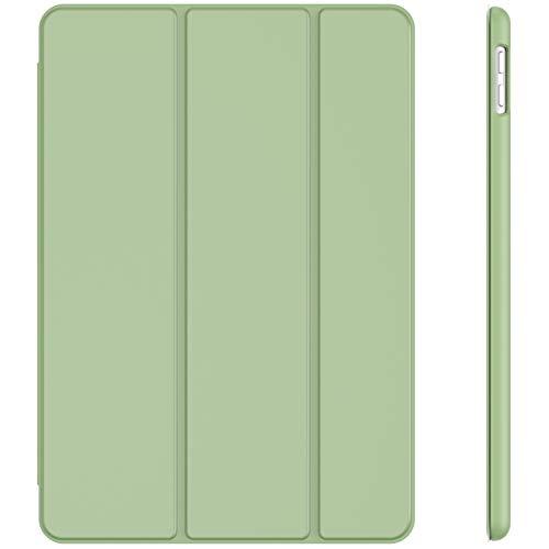 JETech Hülle für iPad 8/7 (10,2 Zoll, Modell 2020/2019, 8./7. Generation), Auto Schlafen/Wachen, Matcha Grün