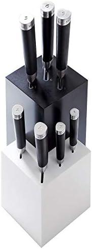 Michel BRAS Corian Knife Block 7 Slot Large Black White product image