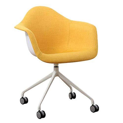 Ergonomía compuesta/Silla para Oficina en casa, respetuosa con el Medio Ambiente, no tóxica e insípida, Color Opcional (Negro/Amarillo), Adecuada para oficinistas, 63x61x85cm