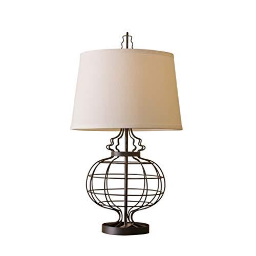 ZJX-F Lámpara de Mesa Hierro Forjado Retro Mesa lámpara Americana país nórdico mediterráneo Simple Estilo Europeo Dormitorio Estudio Sala de Estar Luces de Escritorio