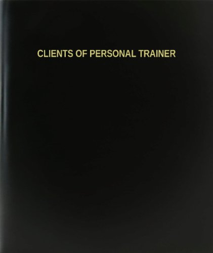 """BookFactory Clients of Personal Trainer Log Book/Journal/Logbook - 120 Page, 8.5""""x11"""", Black Hardbound (XLog-120-7CS-A-L-Black(Clients of Personal Trainer Log Book))"""