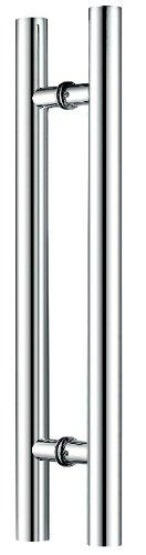 Canzak Manijas de puerta de acero inoxidable cepillado de 61 cm, interiores o exteriores, contemporáneas, modernas