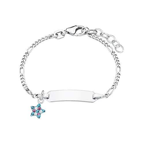 Prinzessin Lillifee Mädchen-Armkette mit Sternen Anhänger aus bunten Strasssteinen