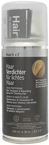 Hairfor2 Haarverdichtungsspray gegen lichtes Haar (100ml) (mittelblond)