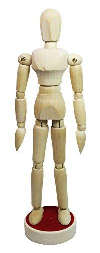 Honsell 63514 - Modellpuppe aus naturbelassenem Hartholz, geschlechtsneutrale Gliederpuppe, magnetisch, ca. 12 cm groß