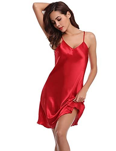 NC Camisones Sexys Mujer 100% Poliéster Combinacion Interior Mujer para Vestidos, Camison...