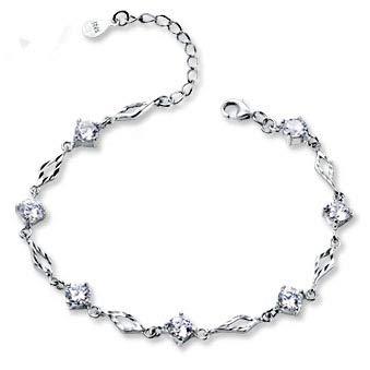 Pulsera de amatista de diamantes carflower Pulsera pura plata joyería pulsera de plata 925 pulsera de plata pura