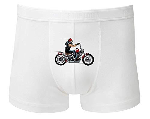 Boxershort - Rocker Motorrad Cartoon Moped - Unterhose für Herren und Männer