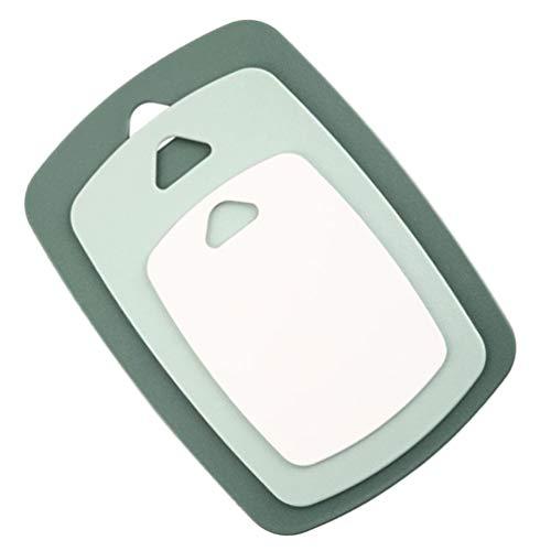 HEMOTON 3 Unids/Set Tablas de Cortar para Cocina Tabla de Cortar de Plástico Bandeja para Servir Lavavajillas Seguro Antideslizante Dedicado a Frutas Verduras Alimentos Cocidos Mariscos