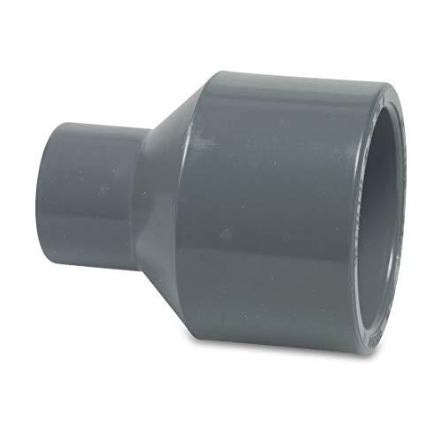 Mega 0110708 - Reduziermuffe PVC-U 40/32 mm x 25 mm Klebestutzen/Klebemuffe x Klebemuffe 16 bar Grau