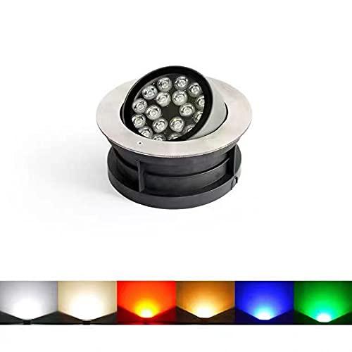 HETX7 Luz LED para paisaje de 3 W, 1 paquete de luces de suelo que ahorran energía, lámparas de pozo de aluminio fundido a presión, lámparas de suelo impermeables para entrada, terraza, jardín, luz ve