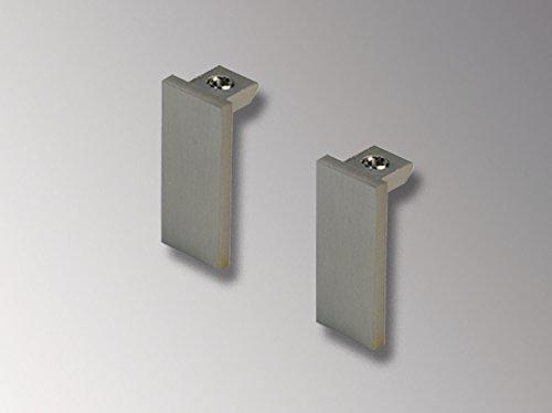 Liedeco Endstück, Endknopf, Endkappe Cubis | eckig | Nickel-matt | 2 Stück