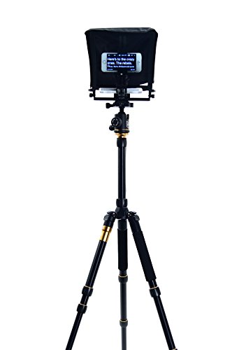 Glide Gear Small Camera Smartphone iPad Tablet Teleprompter & Tripod Package