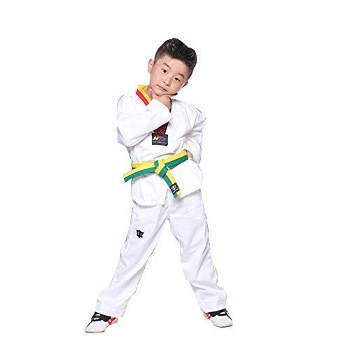 Traje de Taekwondo de Primavera y Verano para Hombres y Mujeres Traje de Entrenamiento de Taekwondo de Manga Corta de Manga Larga para Principiantes Ropa de Taekwondo para Principiantes-B-XS