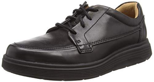 Clarks Un Abode Ease, Zapatos de Cordones Derby Hombre, Negro (Black Leather), 44.5 EU